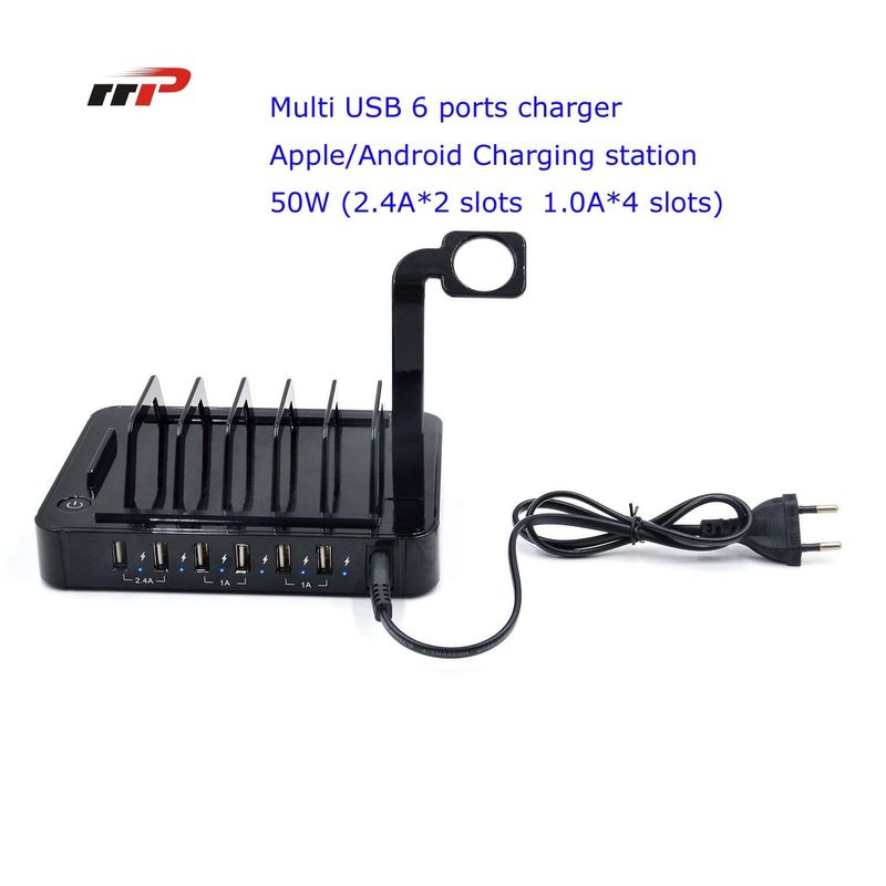 Multi Device 6 Port 5.0v 8.8a Usb Charging Station Apple Android Ipad Iwatch Use