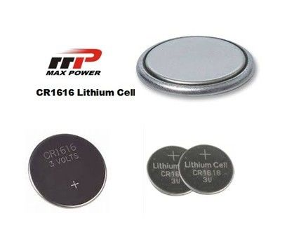 Non-toxic CR1616 3.0V Primary Lithium Battery LiMnO2 50mAh For Music Cards