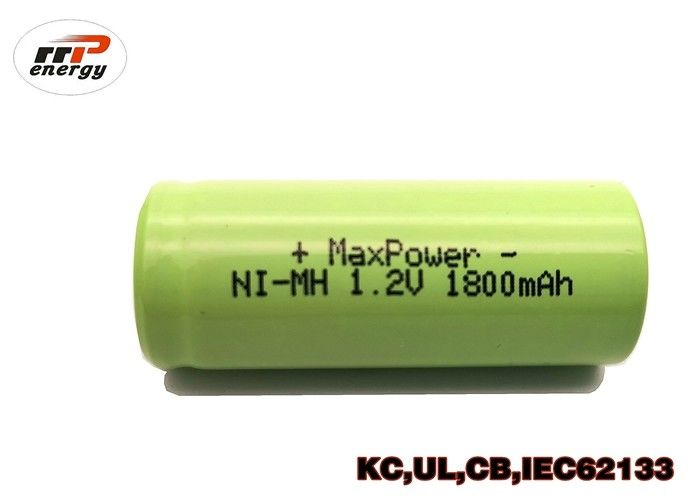 Durable NIMH Rechargeable Batteries 4/5A1800mAh 1.2V With UL CE KC Certification