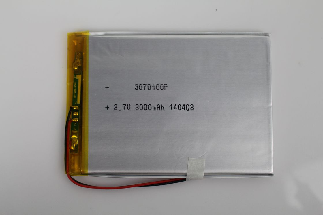 Rechargeable Lithium Polymer Battery 3.7V 3000mAh High energy density