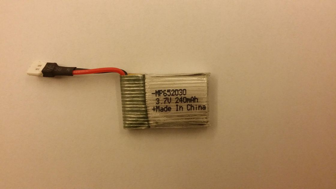 20C Discharge 240mAh 3.7V li-ion rechargeable battery for Electronic toys
