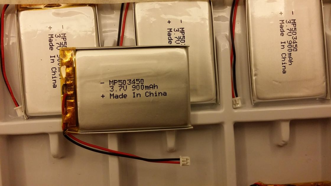 Li PO 503450 900mAh 3.7V Lithium Polymer Battery IEC62133 For Remote Controller